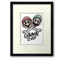 Mario and Luigi Game Over Framed Print