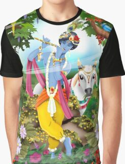 Krishna / Shivas World Graphic T-Shirt
