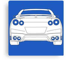 Rear Tail Light Tee / Sticker for R35 Nissan GTR enthusiasts - White Canvas Print