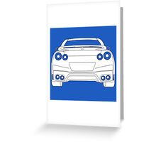 Rear Tail Light Tee / Sticker for R35 Nissan GTR enthusiasts - White Greeting Card