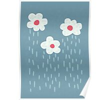 Raining Flowery Clouds Poster