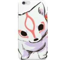 Baby Okami questioning iPhone Case/Skin