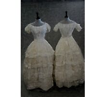 White Muslin Photographic Print