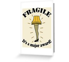 Fragile Leg Lamp A Christmas Story Greeting Card