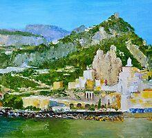 Amalfi on the Mediterranean by Dai Wynn