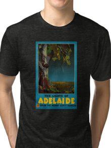 Adelaide Restored Vintage Travel Poster Tri-blend T-Shirt