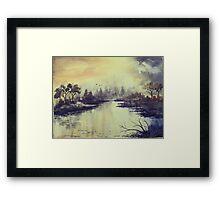 Dreamy Lake Framed Print