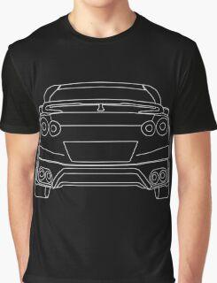 Nissan R35 GTR Rear Wireframe Design | Tee Shirt & Apparel - White Graphic T-Shirt