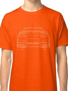 Nissan R35 GTR Rear Wireframe Design | Tee Shirt & Apparel - White Classic T-Shirt