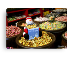 Preparing for Winter in the Candy Store  Canvas Print