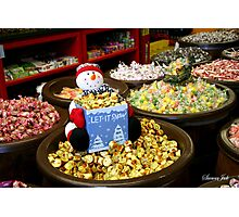 Preparing for Winter in the Candy Store  Photographic Print
