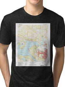 USGS TOPO Map Arkansas AR Russellville West 259548 1993 24000 Tri-blend T-Shirt