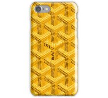 Goyard Perfect case yellow iPhone Case/Skin