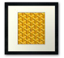 Goyard Perfect case yellow Framed Print