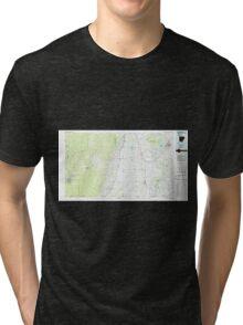 USGS TOPO Map Arkansas AR Crossett 260399 1986 100000 Tri-blend T-Shirt