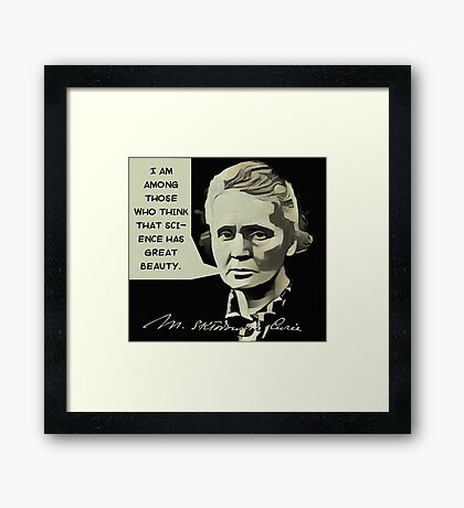 Marie Curie Quote Framed Print