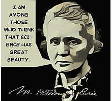 Marie Curie Quote Photographic Print