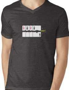Shoot the Deck of Cards VRS2 Mens V-Neck T-Shirt