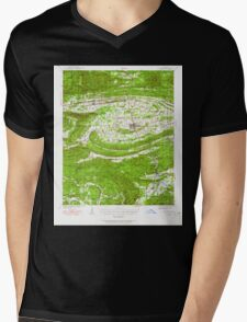 USGS TOPO Map Arkansas AR Waldron 260352 1939 62500 Mens V-Neck T-Shirt