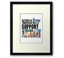 Support [Black Text] Framed Print