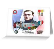 Major Gervais Raoul Lufbery Greeting Card