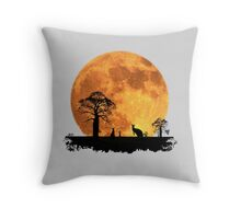 Outback Moonrise Throw Pillow