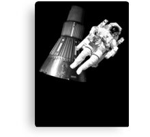 Space man and his tin can Canvas Print