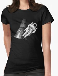 Space man and his tin can Womens Fitted T-Shirt