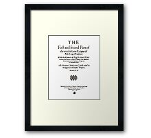 Shakespeare King John Frontpiece - Simple Black Version Framed Print