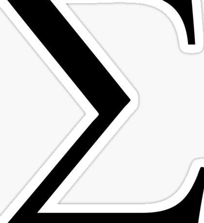 Greek Letter - Sigma Sticker