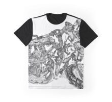 Wrecked Motorcycle with Barnacles and Rust Graphic T-Shirt