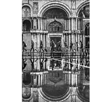 Crossing St Mark's Square, Venice, Italy Photographic Print