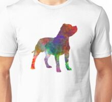 Staffordshire Bull Terrier in watercolor Unisex T-Shirt