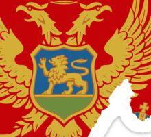 Montenegro Flag Map Sticker