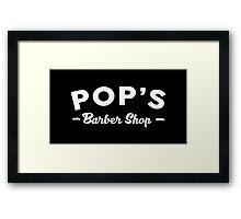 POP'S BARBER SHOP - LUKE CAGE Framed Print