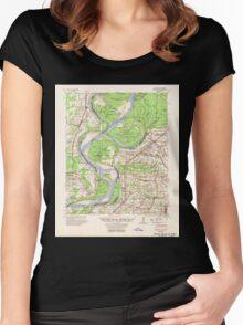 USGS TOPO Map Arkansas AR Mellwood 260195 1954 62500 Women's Fitted Scoop T-Shirt