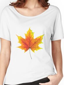 Multicolored maple autumn leaf Women's Relaxed Fit T-Shirt