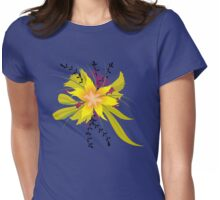 Floral Flower Plant Illustration Womens Fitted T-Shirt