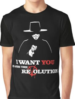 I Want You V For Vendetta Graphic T-Shirt