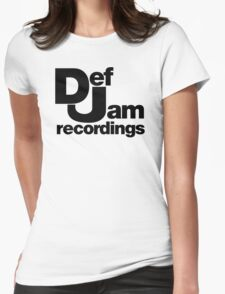 funny tshirt def jam Womens Fitted T-Shirt