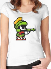 pixel artwork Women's Fitted Scoop T-Shirt