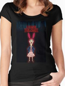 Stranger Things at Bob's Burgers Women's Fitted Scoop T-Shirt