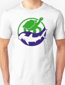 turtle under shark Unisex T-Shirt