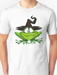 Frog Wearing Witch Hat Unisex T-Shirt