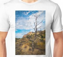 Barren tree and mountain Unisex T-Shirt