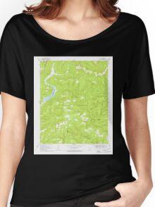 USGS TOPO Map Arkansas AR Fern 258450 1969 24000 Women's Relaxed Fit T-Shirt