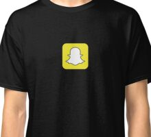 Snapchat Ghost Logo Classic T-Shirt