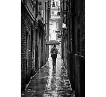 Under My Umbrella, Venice, Italy. Photographic Print