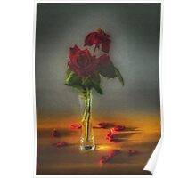 Red roses say love Poster