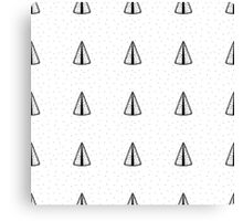 Pattern of tipi 1. Black on white. Canvas Print